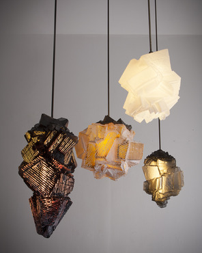 Glass light fixtures by Thaddeus Wolfe