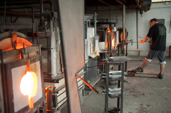 View of the Glass Hot Shop