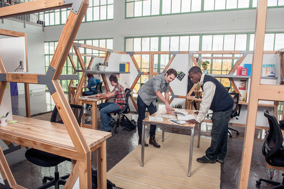 Students in the industrial design studio