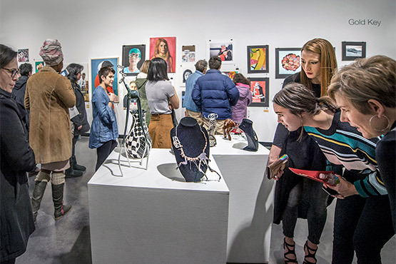 Scholastic opening reception in Reinberger Gallery