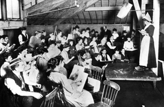 old classroom photo