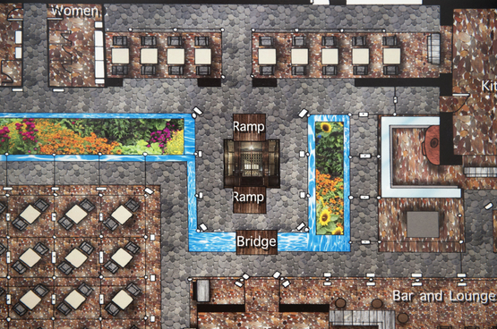 An example of a computer rendered floor plan created by a Pre-College student.