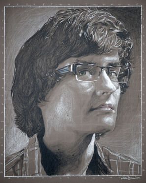 An example of a portrait created in the Foundation in Drawing class.