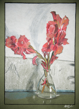 A colored pencil drawing created in the Foundation in Drawing class.