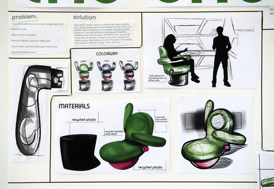 An example of a product design created by a Pre-College student.