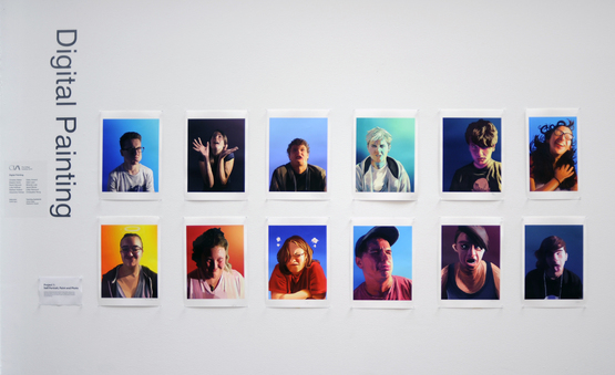 A group image of finished digital portraits created by the Digital Painting students.