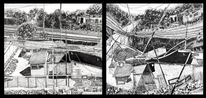 Drawing student work by Chi Wong