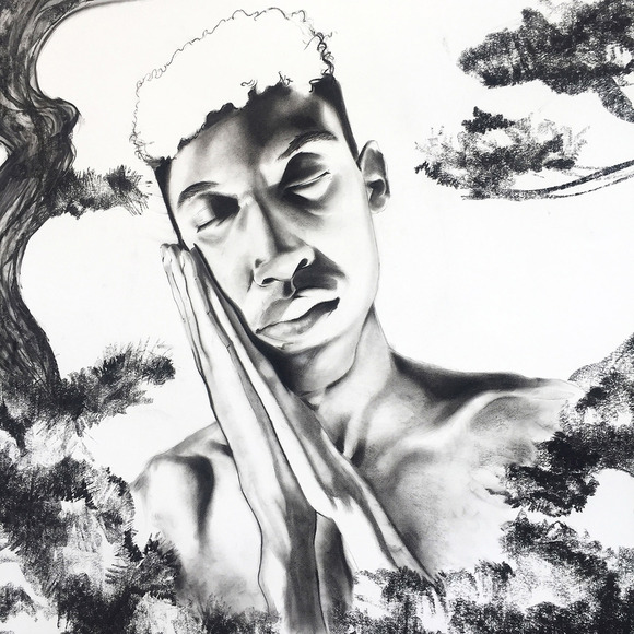 Drawing student work by Davon Brantley
