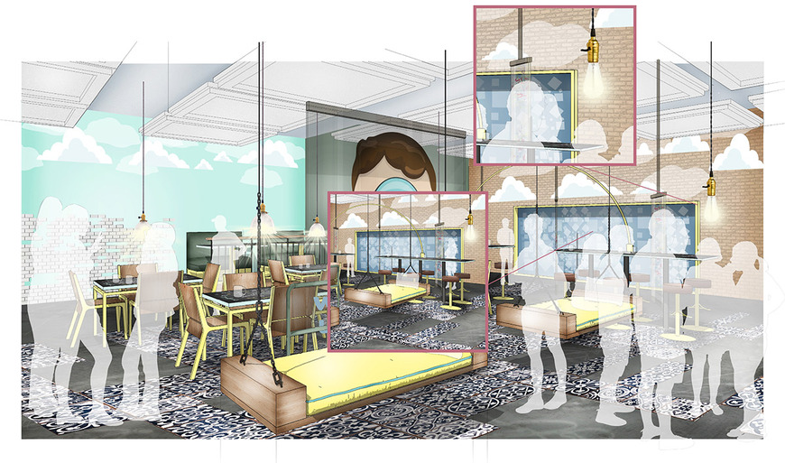 Interior Architecture student work by Edna Straswer