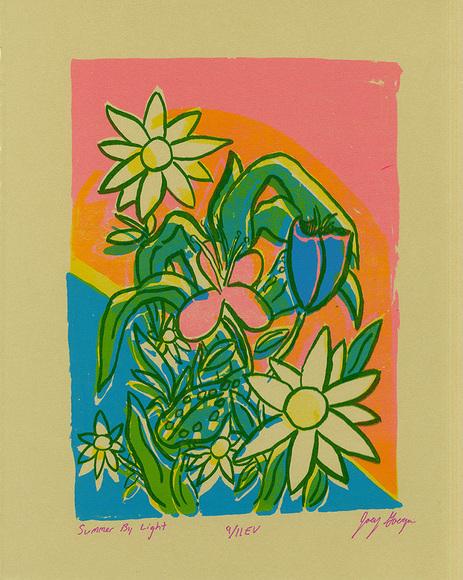 Printmaking student work by Joey Goergen