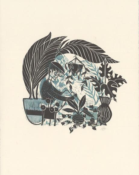 Printmaking student work by Joseph Frankhauser