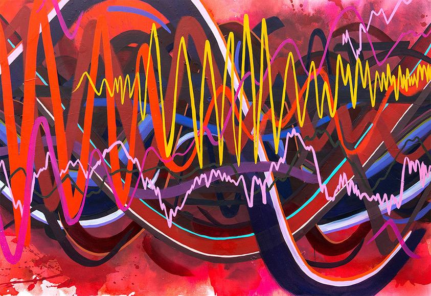 Painting student work by Megan Dardis