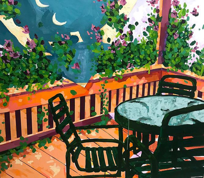 Painting student work by Rachel Moell
