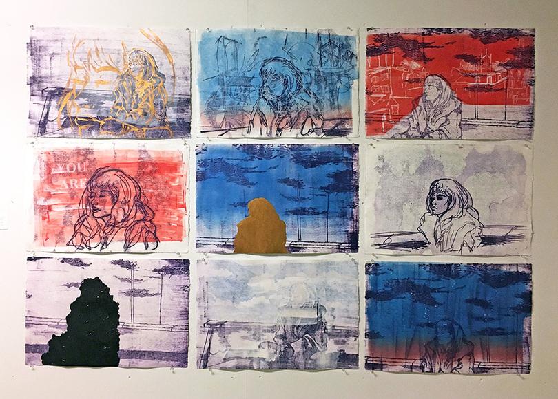Printmaking student work by Rachel Moell