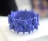 A 3D printed piece from the Wearable Art and Design class.