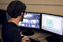 An Animation student hard at work in a computer lab.