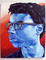 A brightly colored portrait from a Painting student.
