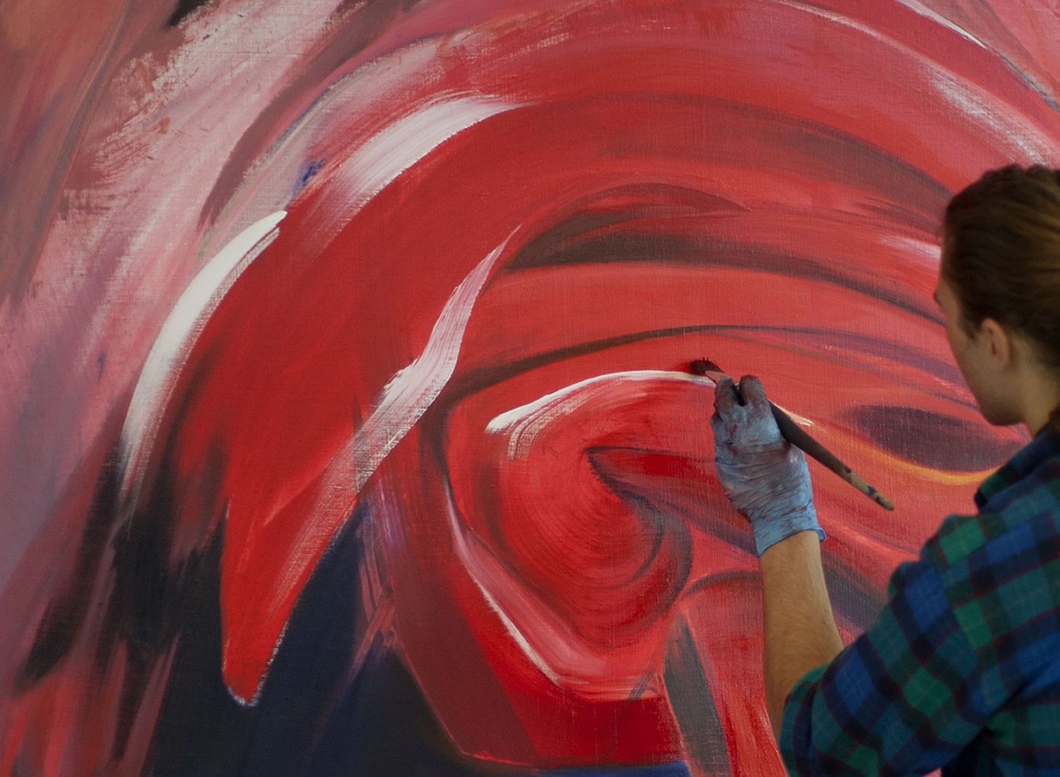 Student painting